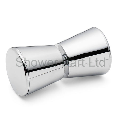 Shower Door Handle/Knob Chrome or Gold Plated Cone Shaped Elegant L063
