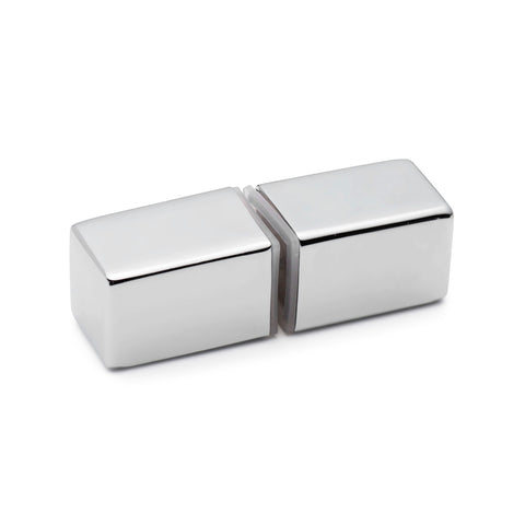 Shower Door Handle/Knob Chrome Zinc Alloy Square Shaped L066