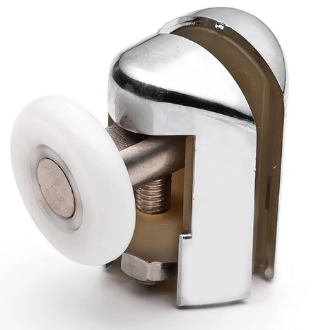 2 x Chromeplated Top Single Shower Rollers /Runners/Wheels 20mm, 23mm or 25mm Wheel Diameter L069