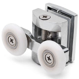 2 x Double Top Zinc Alloy Shower Door Rollers/Runners/Wheels 23mm or 25mm Wheel Diameter L070