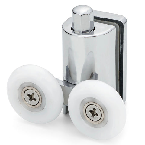 2 x Shower Double/Twin Bottom Door Rollers/Runners/ Replacements/ Spares/Wheels 23mm or 25mm Wheel Diameter L073