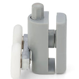 2 x Double Bottom Shower Door Rollers/Runners /Guides/Wheels 23mm or 25mm Wheel Diameter L073P