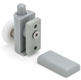 2 x Single Bottom Shower Door Rollers/Runners/ Guides/Wheels 23mm or 25mm Wheel Diameter L073P