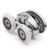 2 x Double Top Butterfly Shower Door Rollers/Runners 23mm or 25mm Wheel Diameter L077-1