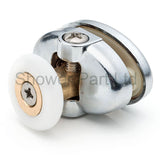 2 x Single Top Butterfly Shower Door Rollers/Runners 23mm or 25mm Wheel Diameter L077-1