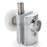 2 x Chromeplated Bottom Single Shower Rollers/Runners/Wheels 23 or 25mm Wheel Diameter L089