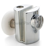 2 x Chromeplated Top Single Shower Rollers/Runners/Wheels 23mm or 25mm Wheel Diameter L089