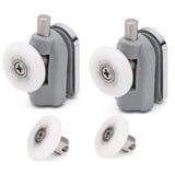 2 x Single Bottom/Lower Shower Door Rollers/Runners/Wheels Bundle 23mm, 25mm or 27mm Wheel Diameter L094