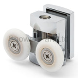 2 x Twin Top Zinc Alloy Shower Door Rollers/Runners/Spares 23mm Wheel Diameter L101