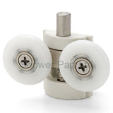 1 x Double Bottom Shower Door Rollers/Runners 23mm Wheel Diameter L102