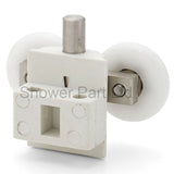2 x Double Bottom Shower Door Rollers/Runners 23mm Wheel Diameter L102