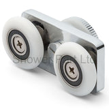 2 x Twin Shower Door Rollers/Runners/ Guide/Replacement 25mm wheels diameter L106