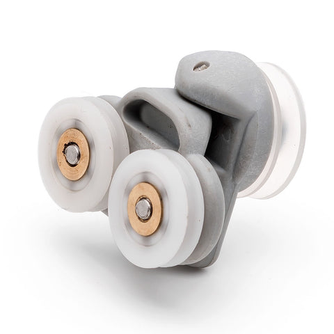 2x Twin Spare Shower Door Rollers/Runners/Wheels 19mm Wheel Diameter grooved wheel L3