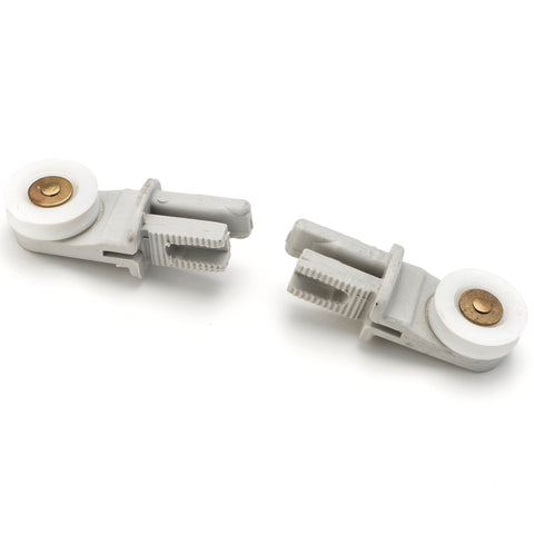 2 x Single Shower Roller/Runner 19mm Wheel Diameter Left and Right LUX8