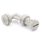 2 x L-Shaped Shower Door Guides LUX14