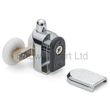 1 x Shower Double/Twin Bottom Door Rollers/Runners /Replacements /Spares/Wheels 23mm Wheel Diameter R4