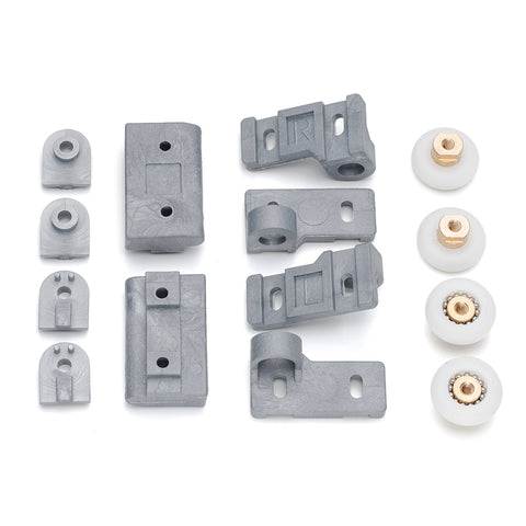 Set of Shower Door Rollers/Runners/Wheels 22mm Wheel Diameter Replacement Parts R7