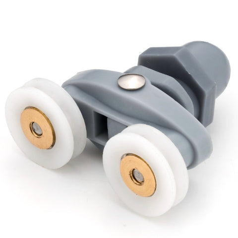 1 x Twin Shower Door Rollers/Runners/Wheels Spare parts Grooved Wheel 19mm Wheel Diameter SB1