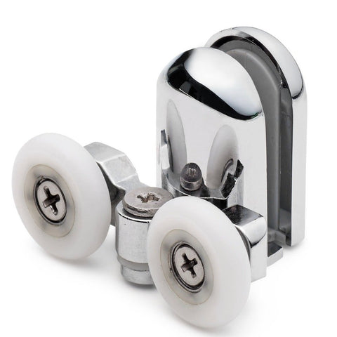 2 x Bottom Double Shower door Rollers /Runners/Wheels 23mm Diameter (6mm or 8mm Glass) SP4