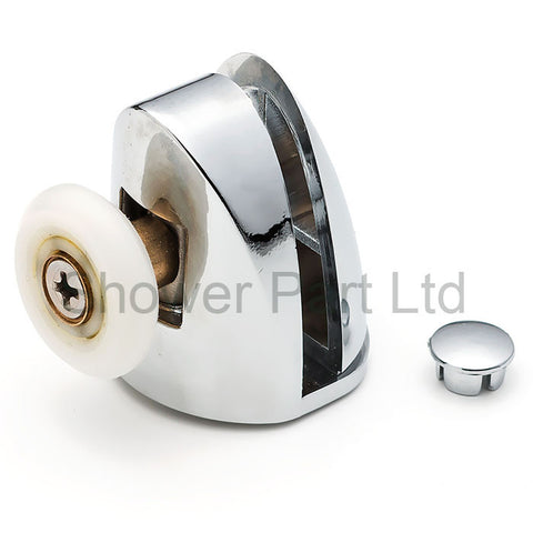 2 x Chromeplate Single Top/Up Shower Door Rollers/Runners 22mm Wheel Diameter SS1