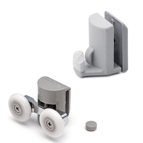 Set of 4 Shower Door Rollers/Runners/Hooks/Guides 22mm,23mm and 25mm Wheel Diameter L003-L082