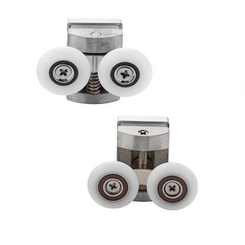 --Set of 2 Shower Enclosure Door Zinc Alloy Rollers 23mm or 26mm Wheel Diameter BE-MS02