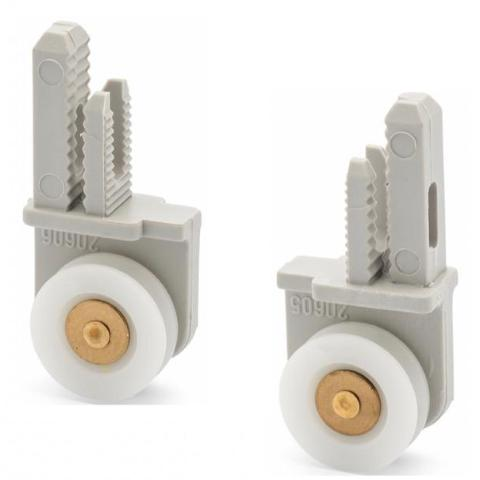 2 x Single Shower Rollers/Runners 19mm Wheel Diameter Left and Right LUX4