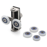 2 x  Double Uniwheel Roller/Runner/Wheel Diameter 25mm/23mm/19mm UNI1
