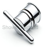 Shower Door Handle/Knob Silver Plastic A12