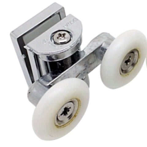 1 x Double Top Zinc Alloy Shower Door Rollers/Runners 26mm Wheel Diameter SD3