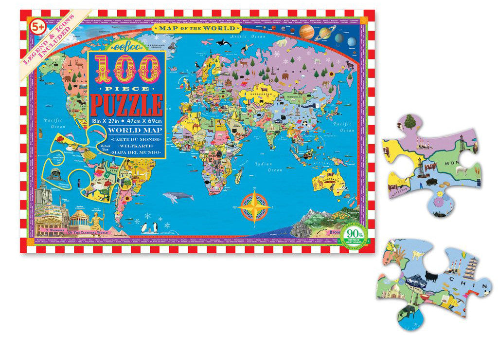 7 toys to get kids psyched about our planet earth petit bazaar eeboo world map 100 piece puzzle gumiabroncs Gallery