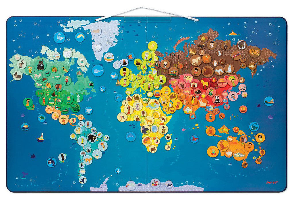 7 toys to get kids psyched about our planet earth petit bazaar janod animals magnetic world map gumiabroncs Choice Image