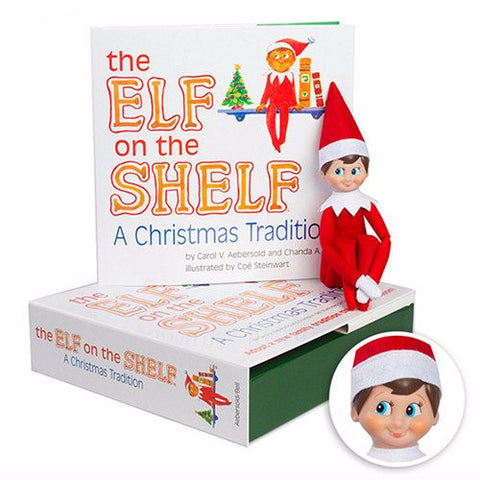 A Christmas Tradition Book With Light Skin Tone Boy Elf