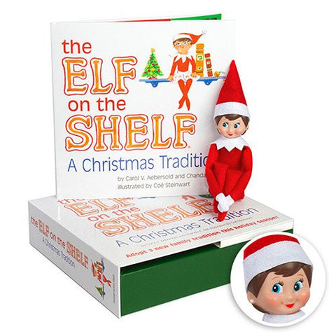 A Christmas Tradition Book With Light Skin Tone Girl Elf