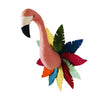 Fiona Walker England Bright Semi Flamingo Head with Full Circle Feathers