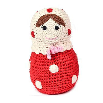 Anne-Claire Petit Russian Doll Crochet with Bell - Red