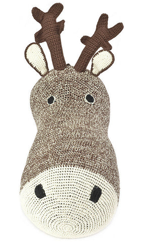 Anne-Claire Petit Reindeer Head Crochet - Choco