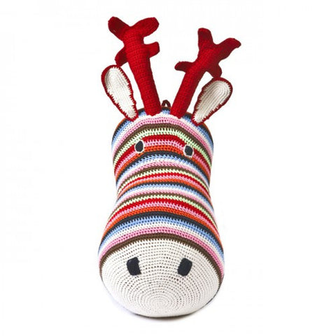 Anne-Claire Petit Reindeer Head Crochet - Multi Color