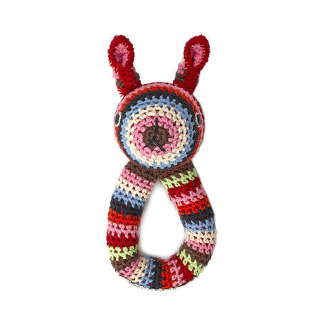 Anne-Claire Petit Rabbit Ring Crochet with Bell - Multi Color