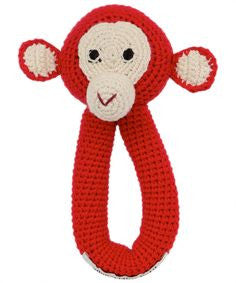 Anne-Claire Petit Chimp Ring Crochet with Bell - Multi Color