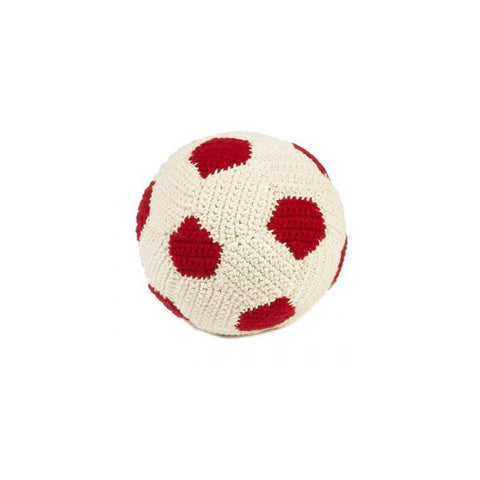 Anne-Claire Petit Football Crochet with Bell - Red