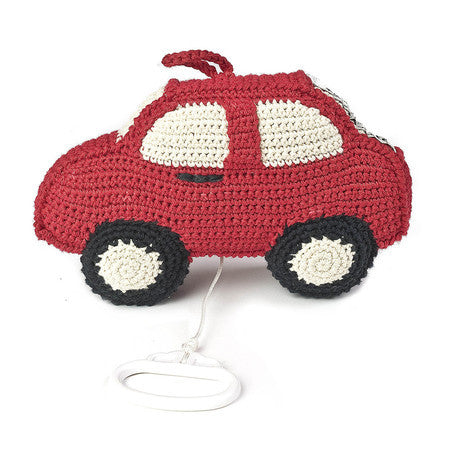 Anne-Claire Petit Car Music Box Crochet - Red