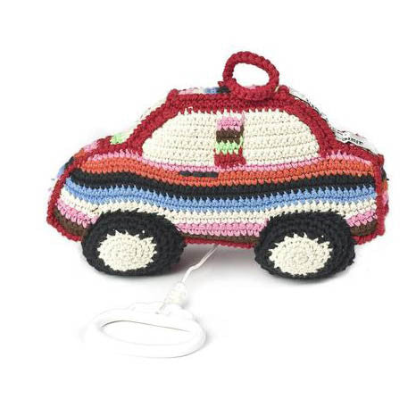 Anne-Claire Petit Car Music Box Crochet - Multi Color