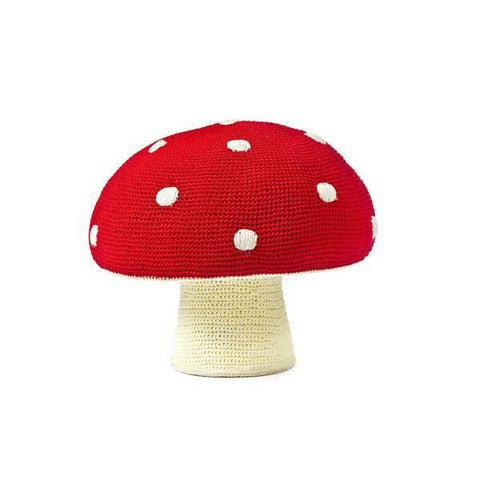 Anne-Claire Petit Mushroom Pouffe - Red Dots