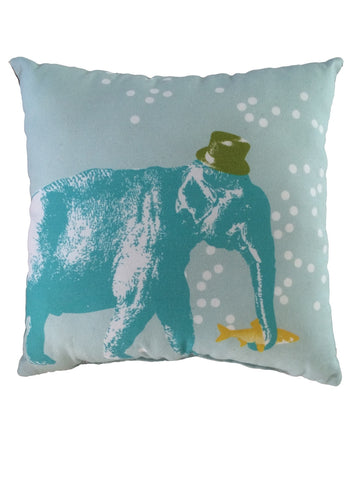 Barnabe Elephant Musical Cushion - Green
