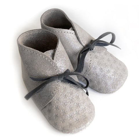 Barnabe Infant Leather Bootees - Nuage