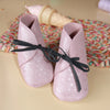 Barnabe Infant Leather Bootees - Rose Pale