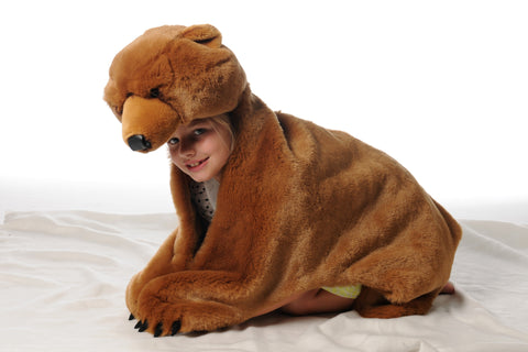 BiBiB & Co Plush Trophy - Disguise Light Brown Bear