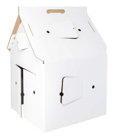 Studio Roof White Cardboard House