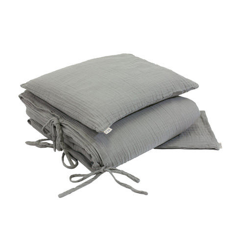 Numero 74 Duvet Cover Set - Silver Grey